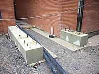 Raised foundation concrete